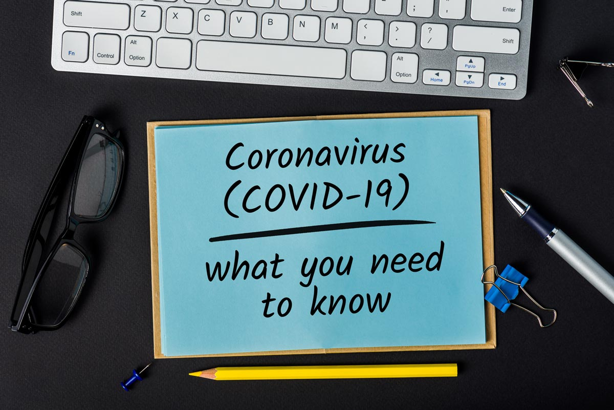 paper with writing Coronavirus (Covid-19) what you need to know